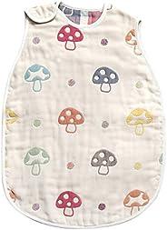 Hoppetta 小蘑菇 寶寶6層透氣紗布 幼童睡袋 寶寶