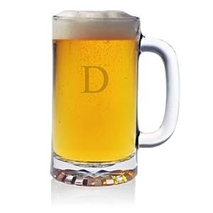 Susquehanna Glass Monogrammed DPub Beer Mugs, Set of 4