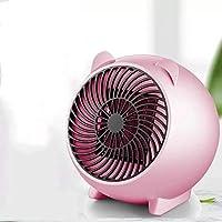Prointxp普智 取暖器 家用迷你暖风机 办公室桌面取暖器 小型小太阳取暖器 学生宿舍取暖器 便携式速热节能电暖器 (粉色)