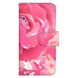 智能手机壳 手册式 对应全部机型 印刷手册 wn-666top 套 手册 花朵图案 UV印刷 壳WN-PR061456-MX AQUOS Xx2 502SH B款