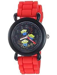 Disney 迪士尼男孩玩具總動員 4 模擬石英手表硅膠表帶,紅色,15.7(型號:WDS000733)