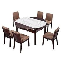 芝华仕 现代简约新中式钢化玻璃实木餐桌椅组合家用餐厅饭桌PT004一桌六椅(标价仅为商品价格,如需运送/安装,请咨询客服具体费用。咨询电话:400-688-9099 QQ:648538692/3478725759)(亚马逊自营商品, 由供应商配送)