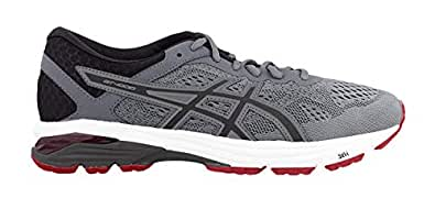ASICS 男式 GT-10006跑鞋 Grey (Stone Grey/Black/Classic Red 1190) 8 UK