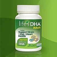 Life's DHA 全素食DHA膳食补充剂 来自天然植物来源 200毫克DHA Omega-3 | 60粒软胶囊 新老包装 随机发货