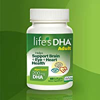Life's DHA 全素食DHA膳食補充劑 來自天然植物來源 200毫克DHA Omega-3 | 60粒軟膠囊 新老包裝 隨機發貨