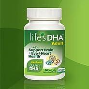 Life's DHA全素食DHA膳食補充劑 素食| 天然植物來源| 200毫克DHA Omega-3 | 60