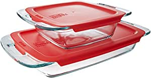 Pyrex Easy Grab 4-Piece Glass Bakeware Set