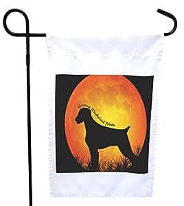 Rikki Knight 德国有线指针犬剪影 Moon House 或 Garden Flag,30.48 x 45.72 cm 旗帜尺寸带 27.94 x 27.94 cm 图像