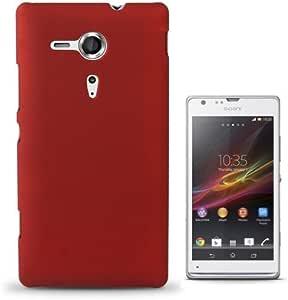 Rocina 纯色硬壳适用于索尼 xperia SP / M35h 红色