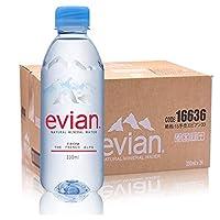 依云evian天然矿泉水330mlx24瓶 原装进口新包装英文版 (17年11月生产)保质期2年