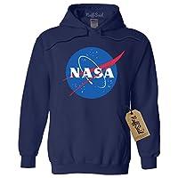 NuffSaid NASA Meatball 徽标蠕虫连帽运动衫套头衫 - 中性连帽衫
