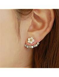 *耳钉羔皮呢 D 'oreille FEMME 2017时尚花朵耳环女式金 bijoux 珠宝 brincos pendientes mujer