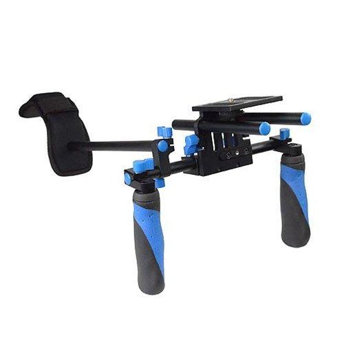 CowboyStudioカメラ棚安定した肩部/レールブラケット支援システムDSLR DV HDVRL02R RL02Rブルー