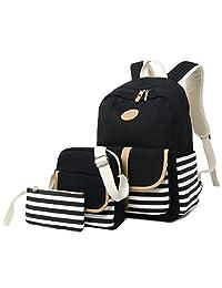 女孩学生背包,Gazigo 女式高中大学书包笔记本电脑包