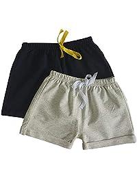 Noubeau 幼儿男童女童纯色夏季运动慢跑运动短裤裤
