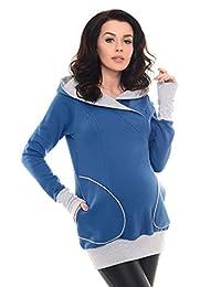 Purpless 孕妇 2in1 怀孕和哺乳连帽运动衫 9056