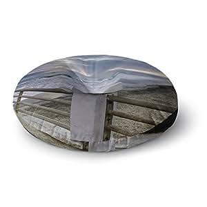 "KESS InHouse Nick Nareshni""日落的海滨海盗"" 海岸摄影圆形地板枕,58.42 cm x 58.42 cm 多种颜色 26"" x 26"" NN1027ARF02"