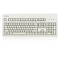 CHERRY 樱桃G80-3000LSCEU-0机械键盘 白色青轴 (爽快清脆段落感,樱桃经典款)