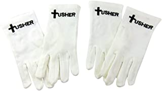 Usher Gloves 基督教教教会服务配件包,2 件套