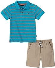Nautica 套裝 (KHQ) 男孩短袖 Polo 衫