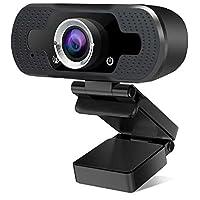 帶麥克風的高清網絡攝像頭,USB 1080P 網絡攝像頭,適用于臺式電腦筆記本電腦,直播網絡攝像頭,帶麥克風,適用于視頻通話、游戲、會議、廣角、自動對焦