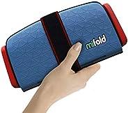 mifold grab-and-go 汽車加高座椅,藍色, 牛仔藍–緊湊,便攜式的加高座椅,適合旅行,拼車等,折疊式兒童加高座椅,可放入手套箱和背包