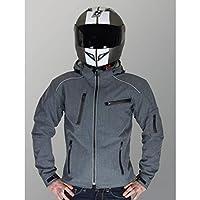Rider-Tec 摩托车软壳夹克,带 CE 盔甲 XXL 灰色 RT0700GXXL