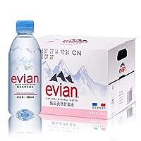 依云Evian天然矿泉水500mlx24瓶(中文版) 18年7月生产 法国原装进口