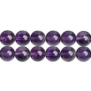 天然宝石圆形 4mm 6mm 8mm 10mm 珠用于珠宝制作,由 Strand 出售 紫色紫水晶 4mm unknown