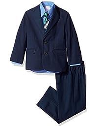 Nautica 男童*格子西装套装带领带