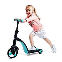致暖Warmest 滑板车儿童 可坐 2-3-6岁小孩三轮 宝宝滑滑车 多功能 nadle系列 (Tiffany蓝)