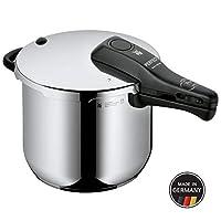 WMF 完美福高壓鍋, 6.5 升,無內膽,直徑 22 厘米,德國制造,帶刻度, Cromargan 不銹鋼,適用于感應爐