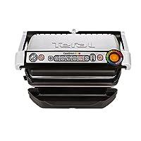 Tefal GC712D12 Optigrill plus, Plus-Modell mit zus?tzlichen Temperaturstufen (2000 Watt, automatische Anzeige des Garzustandes, 6 voreingestellte Grillprogramme) schwarz/silber