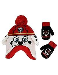 Nickelodeon 尼克国际儿童狗狗巡逻队角色桑拿帽和手套套装,