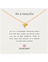 "Dogeared 亚马逊进口直采 美国品牌 ""生活很美好"" 纯银 女士项链 18""(约45.7厘米)"