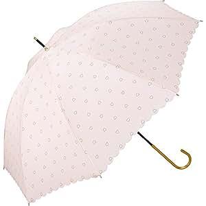Wpc. 女式雨伞 长柄伞 粉色 58 厘米 金色串珠爱心图案 8688-08 PK