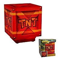 Crash Bandicoot Tnt 燈 | 打開/關閉時爆炸箱聲 | *的 LED 夜燈氛圍燈非常適合兒童臥室、辦公室或家庭燈(任天堂切換/PS4)