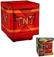Crash Bandicoot Tnt 灯 | 打开/关闭时爆炸箱声 | *的 LED 夜灯氛围灯非常适合儿童卧室、办公室或家庭灯(任天堂切换/PS4)