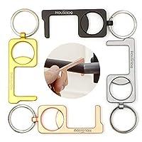 无触碰开门器工具,无触手工具,多工具,非接触式开门器,带开瓶器,钥匙圈 4 件(款式 2)
