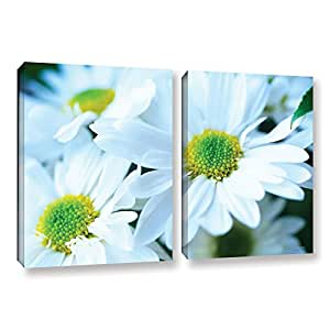 """ArtWall Kathy Yates Fresh Daisies 2-Piece Gallery-Wrapped Canvas Artwork, 24 by 36"""""""