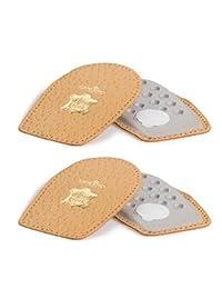 Pedag 13336 完美超柔软、防滑鞋跟垫,褐色皮革,中号 (8L 到 7M) (2 件装)