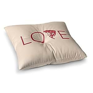 "KESS InHouse KESS 原创""LoveSlice of Love""棕褐红色方形地板枕 多种颜色 26"" x 26"" KIH258ASF02"