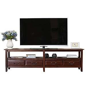 百伽 越南原装进口实木电视柜客厅家具储物地柜式电视柜59406 棕色(配送上门/安装咨询电话:400-00-17901,QQ:947880481)