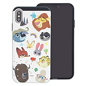 iPhone XS/iPhone X Case DISNEY Zootopia Layered Hybrid [TPU + PC] Shock Absorption Bumper Cover for [ iPhone XS/iPhone X ] Case - Zootopia Small