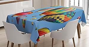 彩色家居装饰桌布带 ambesonne 剪影 OF 蝴蝶自由 icons OF THE Nature 节日艺术品餐厅厨房矩形桌布多种颜色