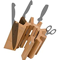 Artelegno Solid Beech Wood 8 Panel Magnetic Knife Block, Luxurious Italian Pisa Collection by Master Craftsmen Displays High-End Knives Elegantly, Eco-friendly, Natural Finish, Large