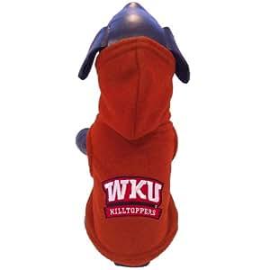 NCAA 西肯塔基山顶运动员北极羊毛连帽狗狗夹克,XXL 码