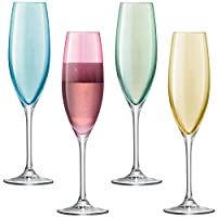 LSA International 波爾卡酒杯套裝 225 ml,4件裝,異色