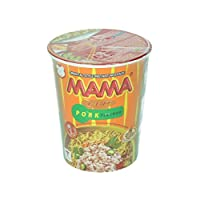 Mama Pork Flavour Instant Cup Noodles, 70 g, Pack of 16