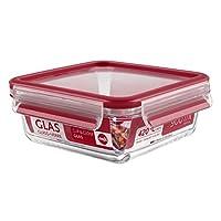EMSA爱慕莎易鲜系列玻璃保鲜盒 513919 正方形0.9L 德国原装进口